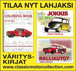 Värityskirja 60-luvun kilpureista Suomen ralleissa